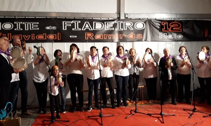 Imaxe portada de Grupo de pandeireta na XII Noite de Fiadeiro en Vilavidal
