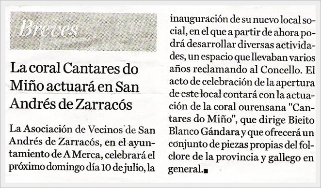 Inauguracion local no diario La Region
