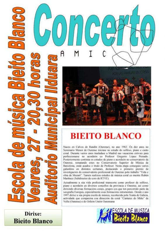 Actuación da escola de música Bieito Blanco no auditorio Ilduara de Celanova