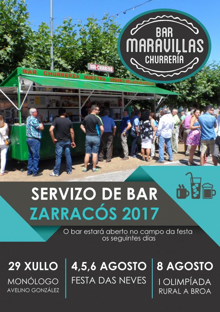 Servizo de bar Zarracós 2017