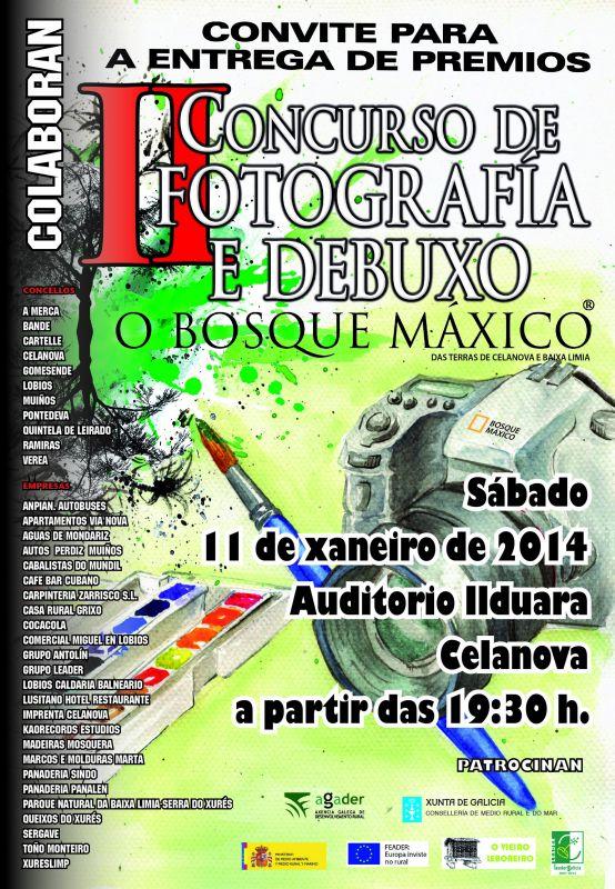 Acto de entrega de premios do II Concurso de fotografía e debuxo O Bosque Máxico