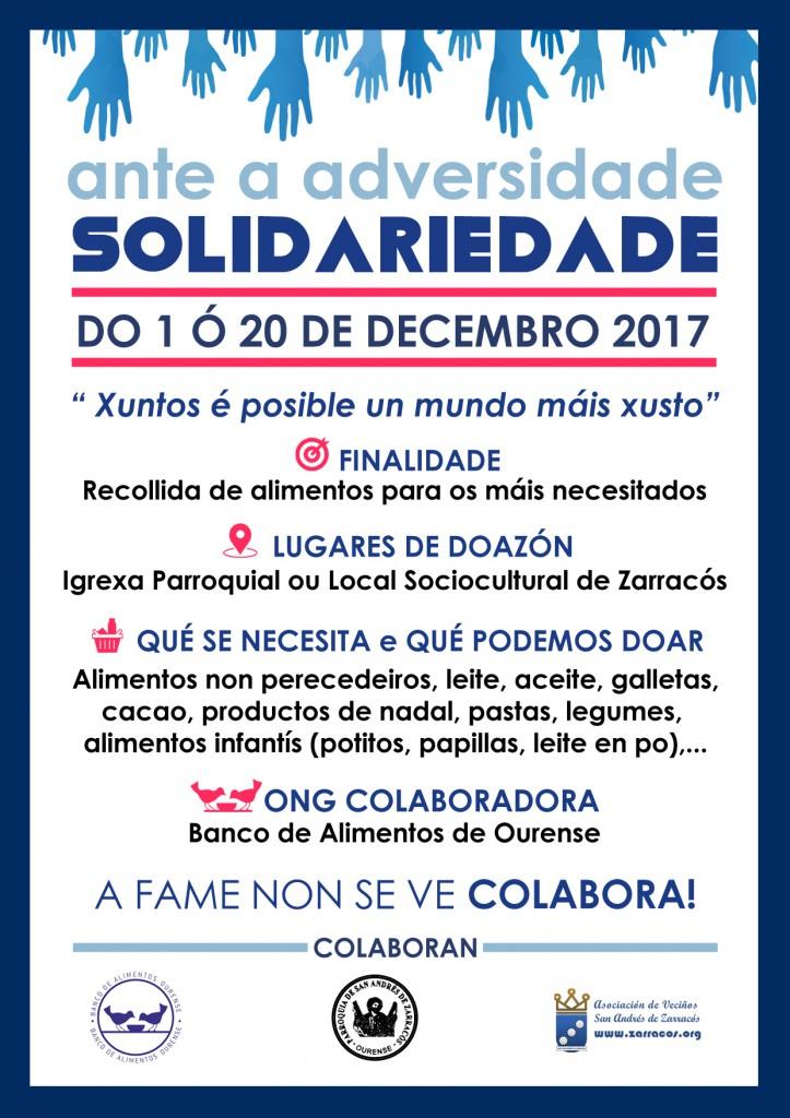 III Edición da campaña -Ante a Adversidade, Solidariedade-