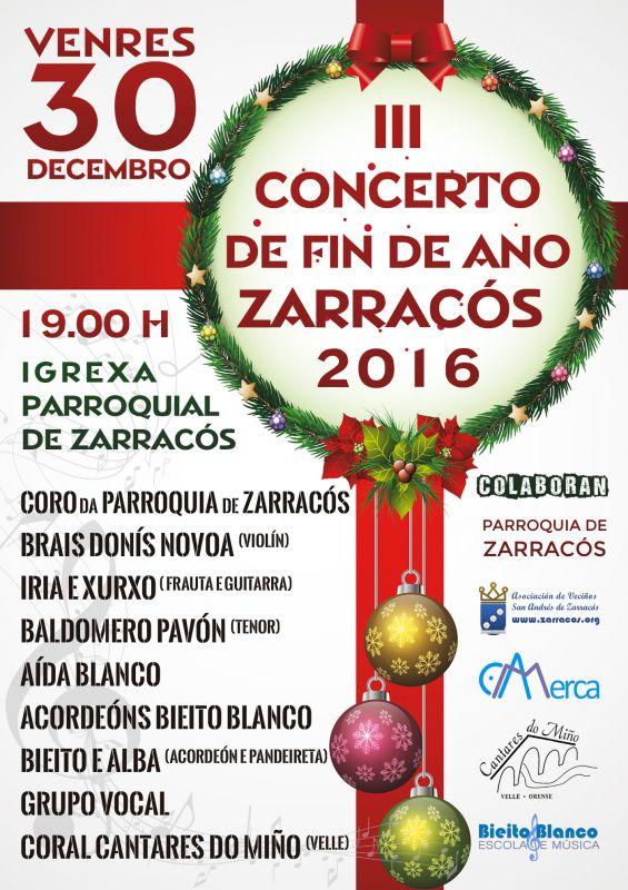 III Concerto de fin de ano Zarracós 2016