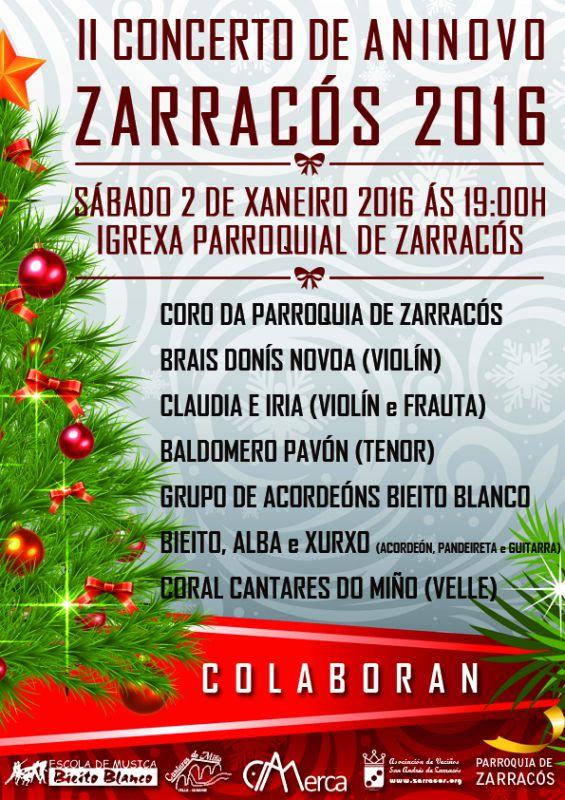 II Concerto De Aninovo Zarracós 2016