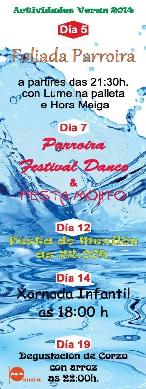Actividades Verán 2014 en Gastro-Bar Parroira