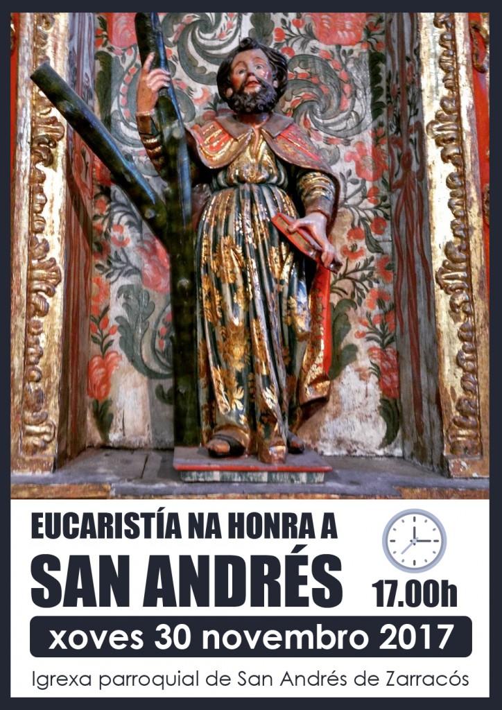 Eucaristía na honra ó San Andrés 2017