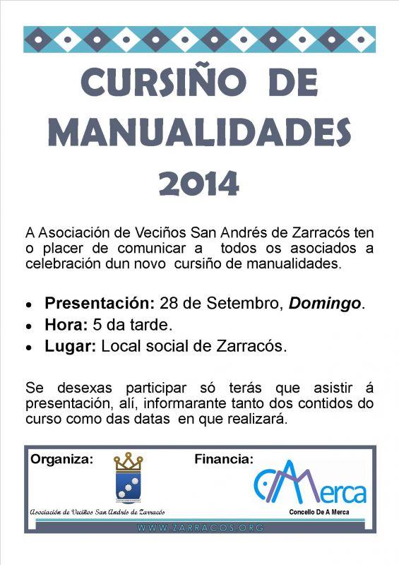 Presentación cursiño de manualidades 2014/2015