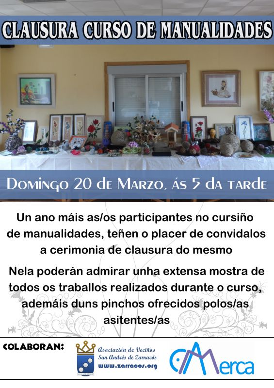 Clausura curso de manualidades 2015-2016
