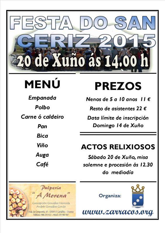 XVI Edición da festa do San Ceriz