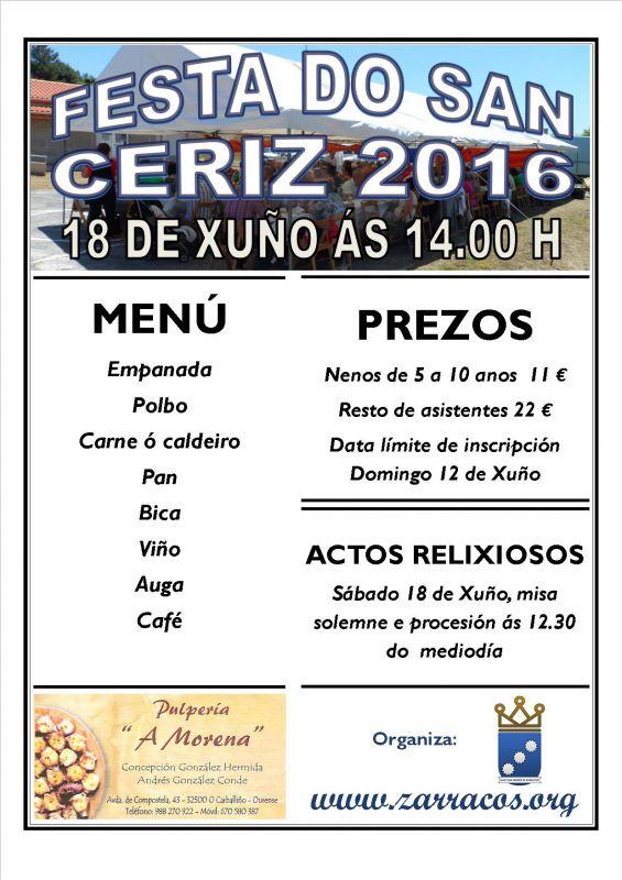 XVII Edición da festa do San Ceriz 2016